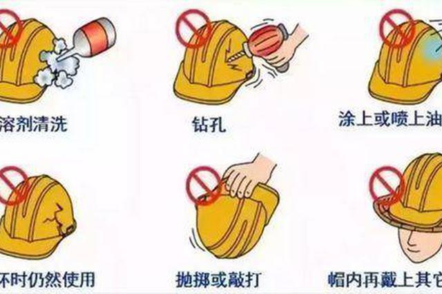 """工人安全帽""""一碰就碎"""" 者调查:安全帽也有潜规则"""