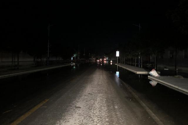 博兴县湖滨镇受灾严重村庄主路基本无积水