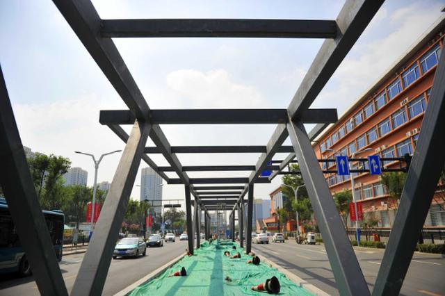 这条BRT私家车也可以走 解放东路开建BRT长廊