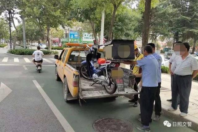 5起摩托车套牌 日照东港交警严查摩托车交通违法