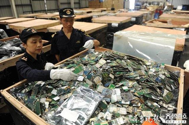 """全国海关半年查8.2万吨""""洋垃圾""""在青比拼鉴定技能"""