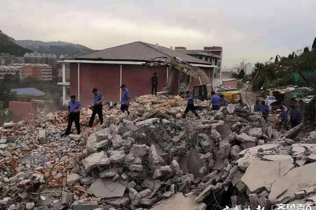 济南兴隆山附近9000余平违建被拆除 未来周边群众能开窗见绿