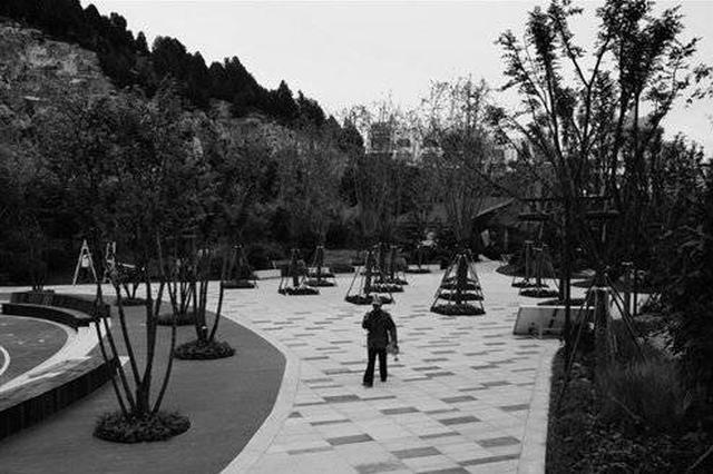 济南这处荒山野地变创意公园 周边小区又多休闲场所