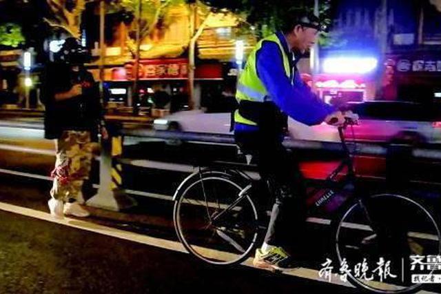 深夜出没 用车轮丈量42公里 首届泉城马拉松赛道完成丈量
