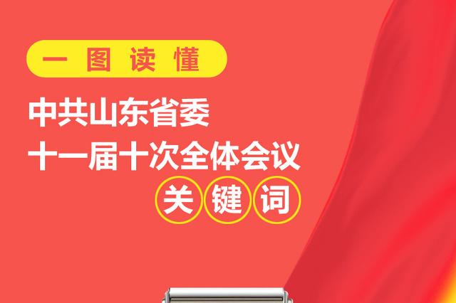 一图读懂中共山东省委十一届十次全体会议关键词