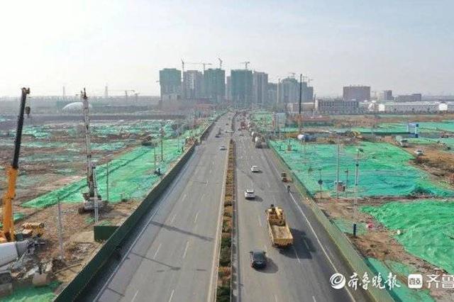 黄河大道:当前施工热火朝天 不久将来旧貌换新颜