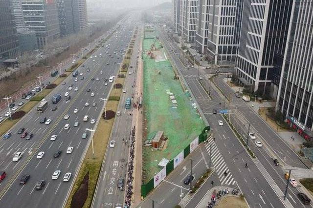 关注 济南轨道交通4号线两站点设围挡 竟然未占车道