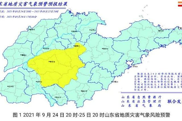 山东发地质灾害预警 济南、淄博、潍坊等6市要注意