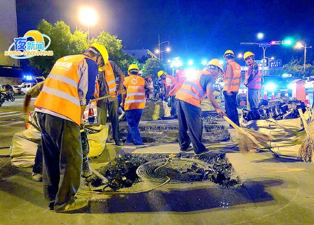 15年来首次  经十路启动大规模整治 昨晚已开始施工