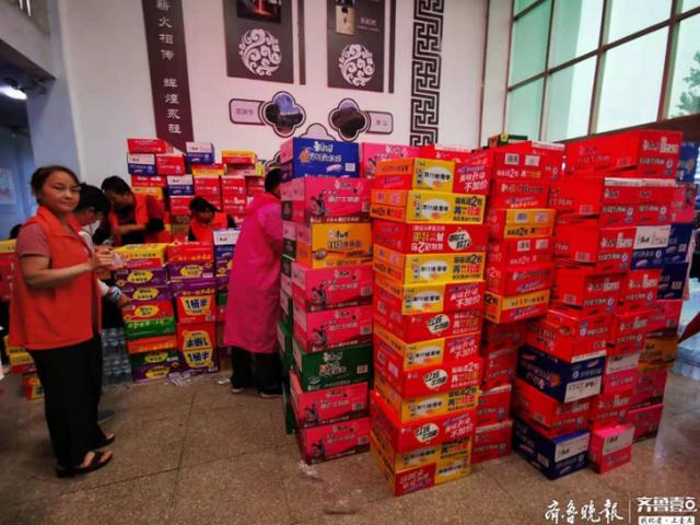 濟南大學生從市區帶物資赴章丘 還要當安置點志愿者