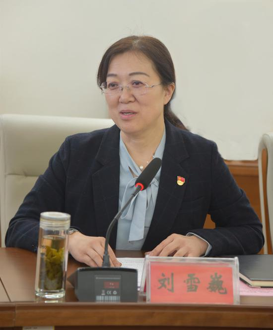 刘雪巍汇报聊城职业技术学院共青团工作