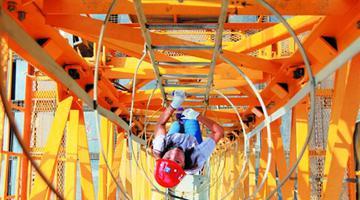 菏泽高空女司机:百米塔吊 一天爬8回