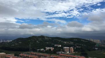 """台风""""摩羯""""过境后济南西城放晴现别样美景"""