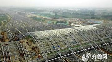 飞吧山东丨济南东站施工新进展