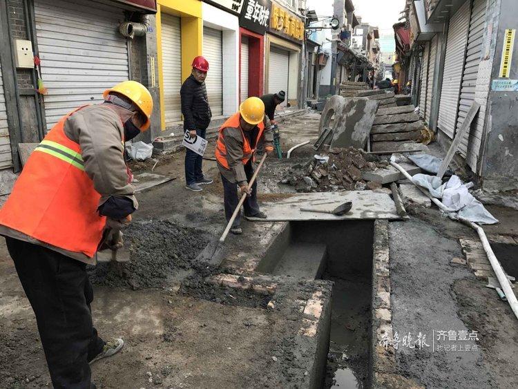 济南芙蓉街新泉处设置亲水平台