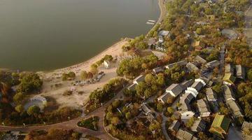 航拍初冬济南园博园 5000亩巨型园林变身彩色世界