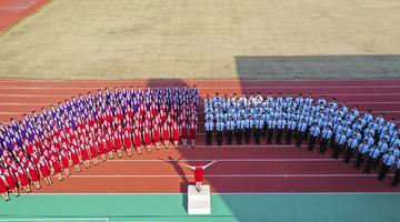 滨州乘务学院新生身穿制服惊艳亮相