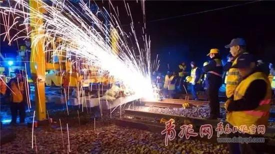 ▲图为济青高铁施工现场。(资料图)