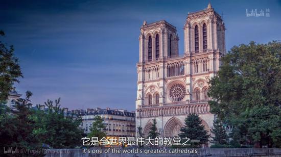 巴黎圣母院(图片来源于纪录片《重建巴黎圣母院:拯救大教堂内幕故事》)