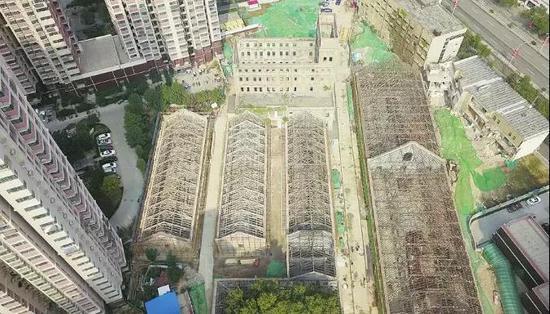 成丰面粉厂全貌俯瞰(改造前)(图片来源于大众网)