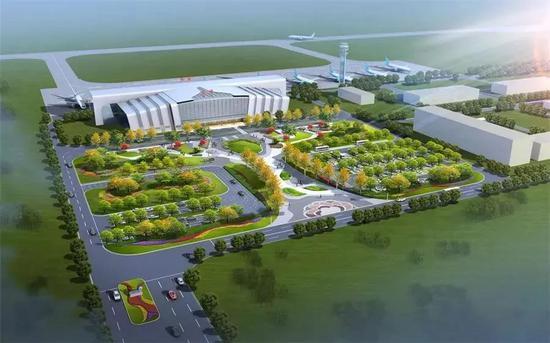 ▴ 牡丹机场效果图(来源:中国定陶)