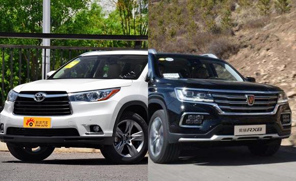 汽车市场竞争激烈 解读荣威RX8与汉兰达
