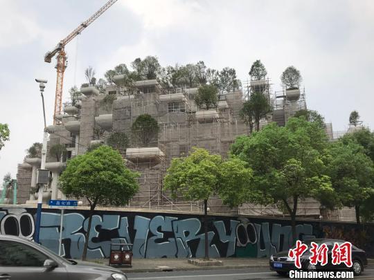 称这建筑更像是传说中的古巴比伦空中花园.(图片来源:视觉中国