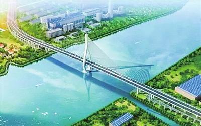 上海昆阳路越江大桥开建 首设上下层跨越江面