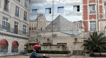 上海现欧式彩绘建筑 巴黎地标一应俱全