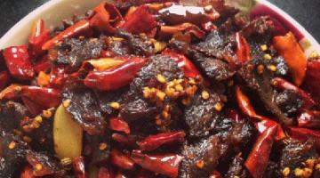 8个步骤制作风味椒麻牛肉