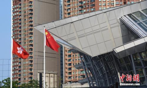 资料图:广深港高铁西九龙站外景 中新社记者 麦尚旻 摄