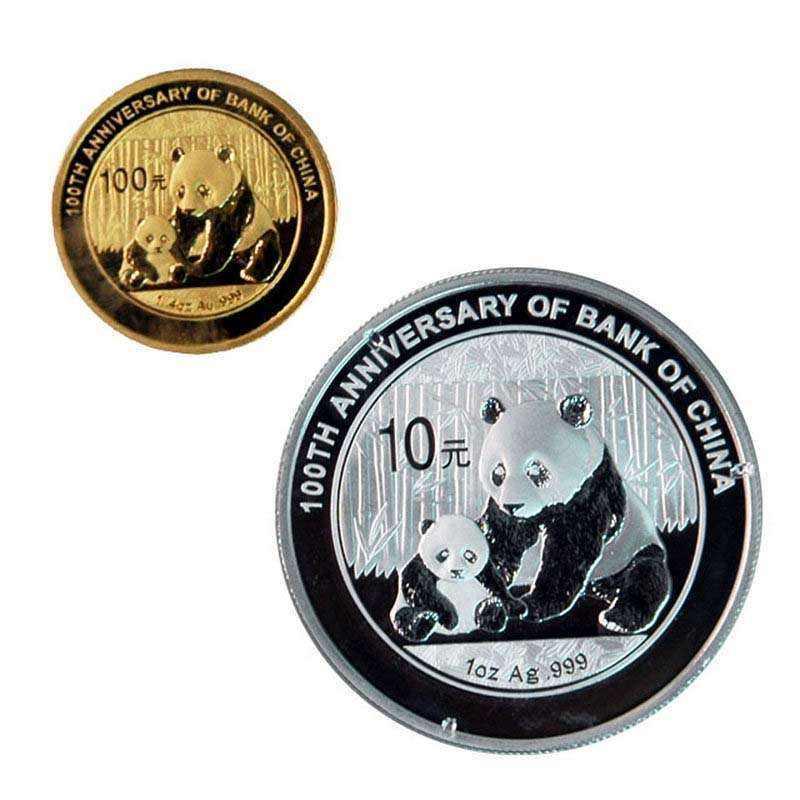 进博会熊猫加字金银纪念币将发行 其中金质1枚银质1枚