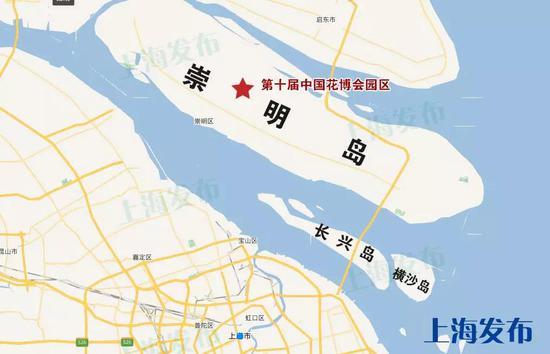 第十届中国花博会选址示意图↑
