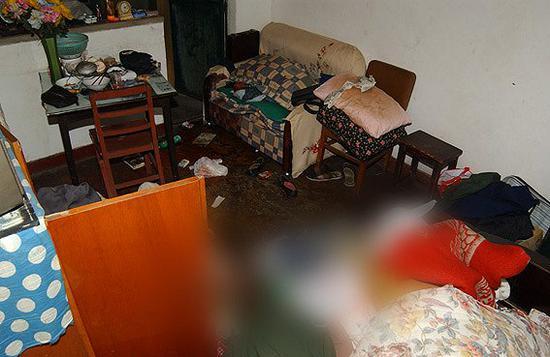 案发现场图片。图片来源:上海警方