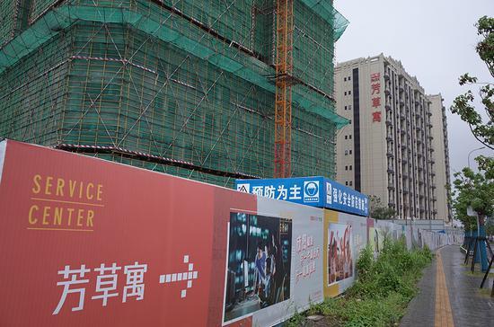 芳草寓坐落于上海市宝山区,今年6月初对外开放租赁。新华新闻见习记者 陈悦 图