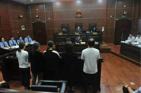 图说:庭审现场。