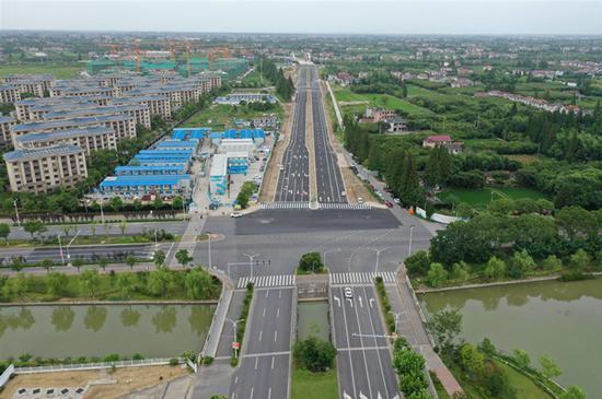 图说:建设公路(团城公路~陈海公路) 上海城投供图(下同)