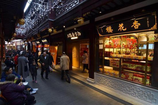 上海豫园商城悄然变样 一批老字号新店入驻