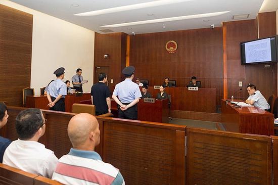 庭审现场 上海一中院供图