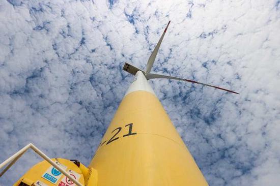 图说:海上风机塔 来源/采访对象供图