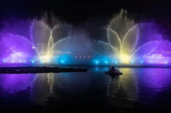 3月起 金山嘴渔村音乐喷泉将在周末、节假日晚上放映
