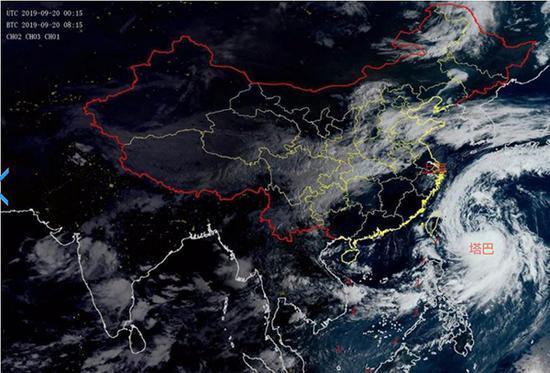 台风塔巴或周日中午越过上海同纬度 强降水或21日出现