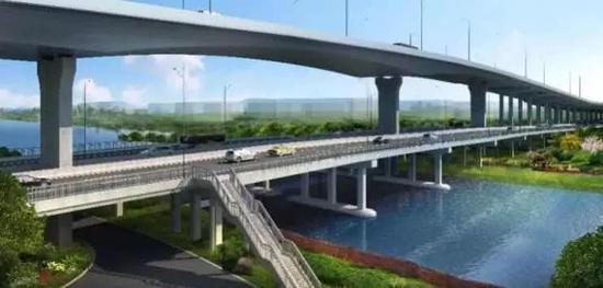 川杨河大跨度钢结构桥梁方案图