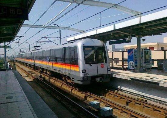 轨交5号线4改6部分站台将竣工 被称上海最小最挤地铁线