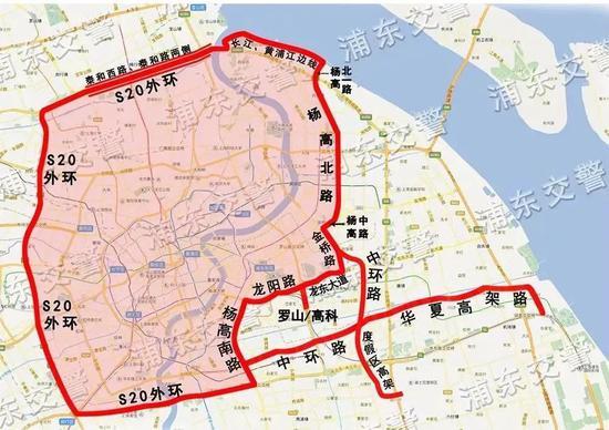 """1""""沪C""""号牌机动车(不包括摩托车)禁止通行规定"""