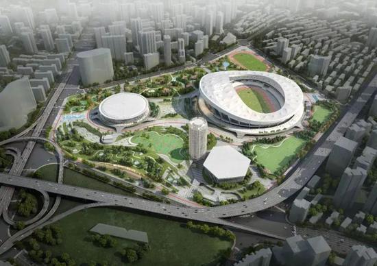 徐家汇体育公园上海体育场综合改造一期项目,以及东亚大厦外立面改造项目大面积改造施工,已经于今年6月份全面展开。