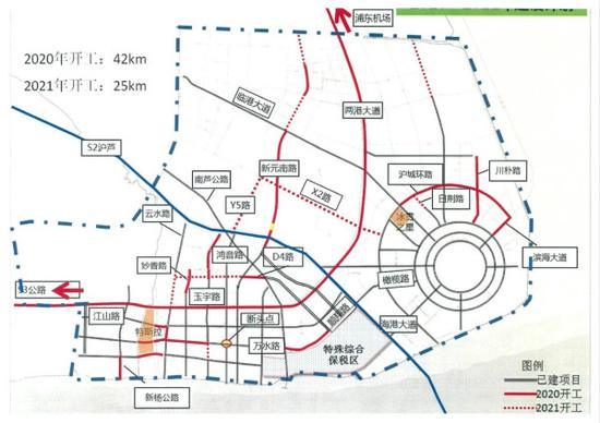 临港新区规划图
