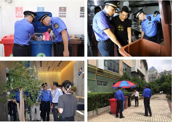 从今年3月起,上海启动全市范围的生活垃圾大检查。7月1日前,城管部门主要依据2014年出台的《上海市促进生活垃圾分类减量办法》进行执法检查