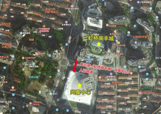 地道位置如图所示