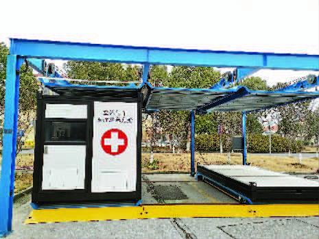 上海首批智能方舱停车库试启用 展开过程只需10分钟